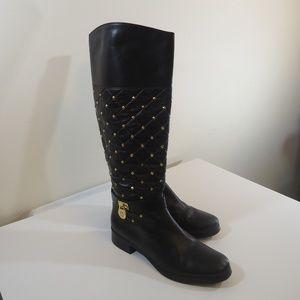Michael Kors leather boots sz 7.5 guc